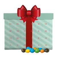 Mini Adventskalender mit Schoko-Erdnüssen und Werbedruck Bild 4
