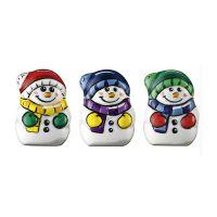 Mini Adventskalender Schoko-Schneemänner mit Werbedruck Bild 2