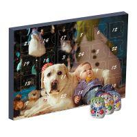 Mini Adventskalender Schoko-Schneemänner mit Werbedruck Bild 1