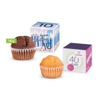 Mini Muffin im Werbewürfel mit Logodruck Bild 2
