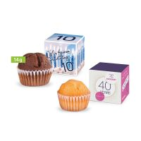 Mini Muffin im Werbewürfel mit Logodruck Bild 1