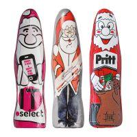 Mini Schoko-Weihnachtsmann mit Werbedruck Bild 2