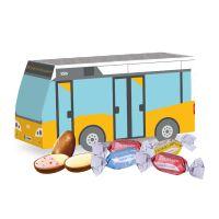 Oster Bus Lindt Joghurt-Eier mit Werbedruck Bild 1