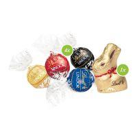 Oster Häuschen Lindt Schokoladenmischung mit Werbebedruckung Bild 2