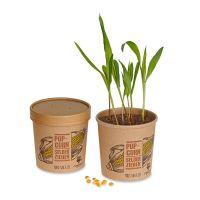 Popcorn-Saatset mit Banderole und Werbedruck Bild 1