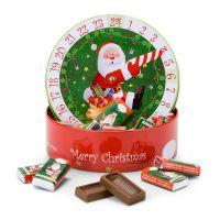 Präsent Adventskalender-Uhr mit Schokolade Bild 1