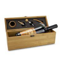 Präsent Wein in Bambuskiste Bild 1