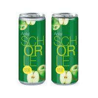 Promodose Apfelschorle still mit Werbedruck Bild 1