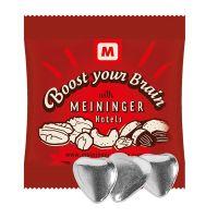 Schoko-Herzen mit Silberglasur im Werbetütchen mit Logodruck Bild 1
