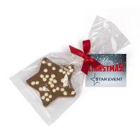 Schoko Weihnachtsstern mit Werbekärtchen Bild 1