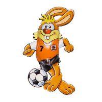 Schokoladen Fußball-Bunny Bild 3