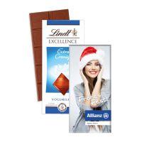 Schokoladentafel Excellence von Lindt mit Werbekartonage mit Logodruck Bild 3