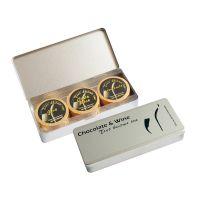 Silberdose mit Etikett Bild 1