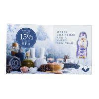 Süßes Briefchen mit Milka Mini Weihnachtsmann und Logodruck Bild 2