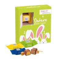 Vier Türchen Karton-Osterkalender mit Ritter SPORT und Werbedruck Bild 1