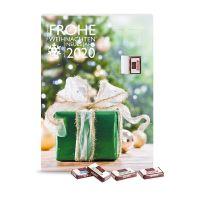 Wand-Adventskalender mit Fairtrade Sarotti Schokolade und Werbedruck Bild 1