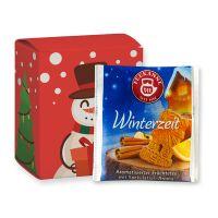 Weihnachts-Beuteltee Winterzeit in einer Faltschachtel mit Werbedruck Bild 1