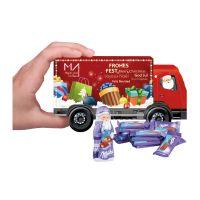 Weihnachts-Express LKW Milka mit Werbebedruckung Bild 2