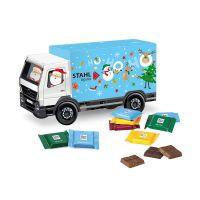 Weihnachts-Express LKW Ritter SPORT mit Werbebedruckung Bild 1