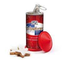 Weihnachts-Litfaßsäule mit Werbeaufdruck Bild 2