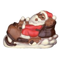Weihnachtsmann auf Skibob 125 g Bild 1