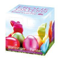 Werbe Osterkalender Cube mit Logodruck Bild 2