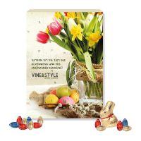 Werbe Osterkalender Lindt Gourmet Edition mit Werbedruck Bild 1