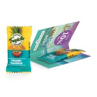Werbekarte Ananas-Passionsfruchtriegel mit Logodruck Bild 1