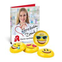 Werbekarte Lindt HELLO Mini Emoti mit Werbedruck Bild 2