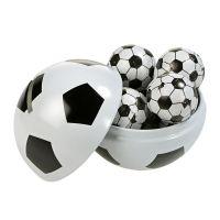 WM Fußball Spardose mit Schokolade und Werbekarte Bild 1