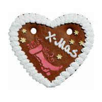 X-MAS Lebkuchenherz gross mit essbarer Werbeanbringung Bild 3