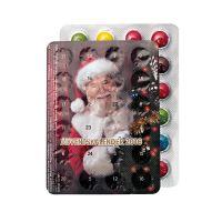 XXS Adventskalender mit 24 Schokolinsen und Logodruck Bild 2