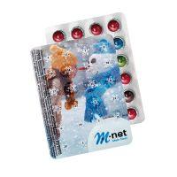 XXS Adventskalender mit 24 Schokolinsen und Logodruck Bild 4