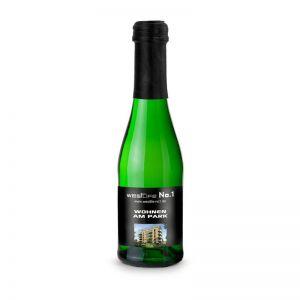 0,2 l Piccolo Sekt Cuvée grüne Flasche mit Werbedruck