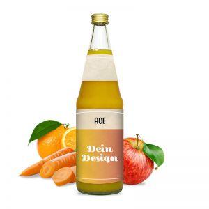 0,7l ACE-Saft in Glasflasche mit Werbeetikett