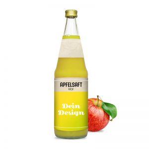 0,7l Apfelsaft klar in Glasflasche mit Werbeetikett