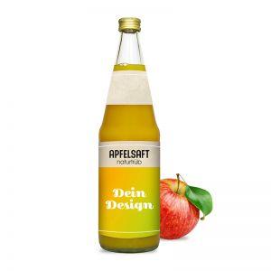 0,7l Apfelsaft trüb in Glasflasche mit Werbeetikett