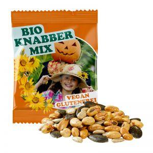 10 g Bio Knabbermix im Werbetütchen mit Logodruck