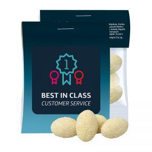 10 g Express Sour Cream-Zwiebel-Erdnüsse im Flowpack mit Werbereiter