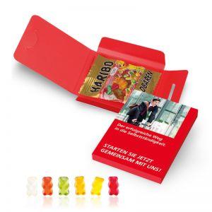 10 g Fruchtgummi-Briefchen in Werbekartonage