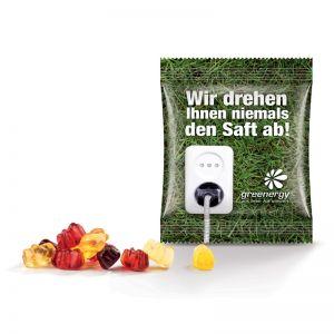 10 g Fruchtgummi Mini-Werbetüte Fruchtsaftqualität