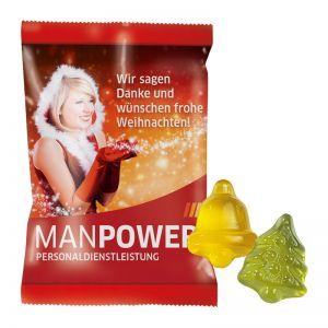 10 g Fruchtgummi Weihnachtsformen im Werbeflowpack