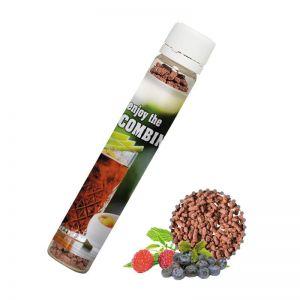 10 g Instant Eistee Wildfrucht im Kunststoff Reagenzglas mit Werbe-Etikett