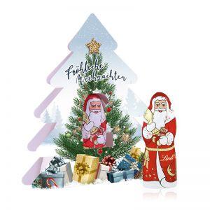10 g Lindt Nikolaus im Weihnachtsbaum mit Werbedruck