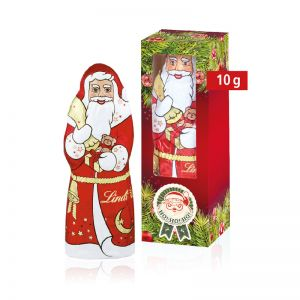 10 g Lindt Schokoladen Weihnachtsmann mit Werbedruck