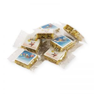 10 g Mini-Lebkuchen mit Lebensmittel-Direktdruck im Flowpack