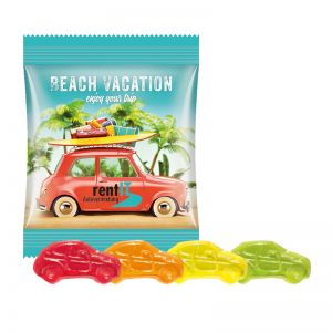 10 g Trolli Fruchtgummi Autos im Werbetütchen mit Logodruck