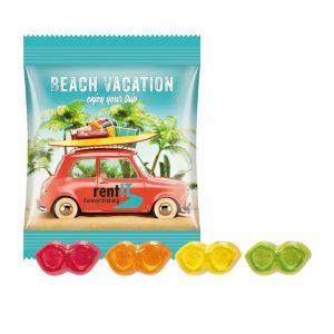 10 g Trolli Fruchtgummi Brillen im Werbetütchen mit Logodruck