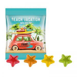 10 g Trolli Fruchtgummi Sterne im Werbetütchen mit Logodruck