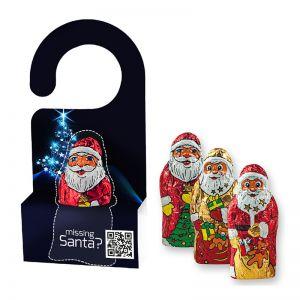 10 g Weihnachtsmann in Werbekartonage mit Aufhänger